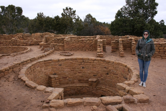Kivas, round structures built into the ground, were a common feature in most of the dwellings.