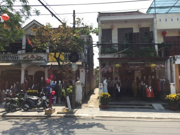Custom clothing shops line almost every street in Hoi An.
