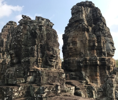 Faces of Bayon temple.