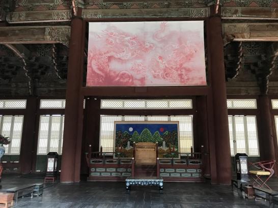 Throne at Gyeongbokgung Palace.