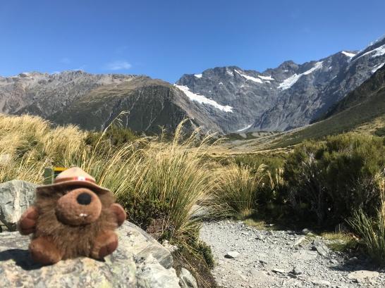 Jean LeCastor visits Mt. Cook.