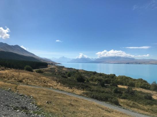 Lake Pukaki is super blue.