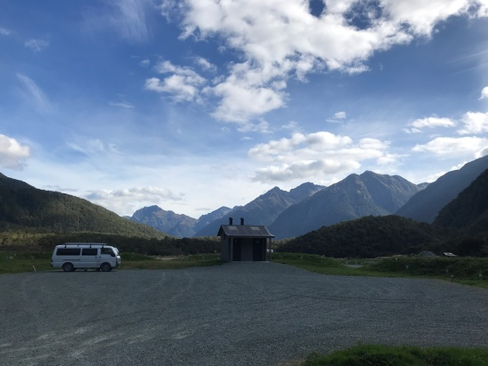 Campsite in Fiordland.